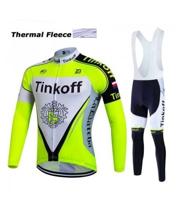 Ropa de Ciclismo Termica Tinkoff Saxobank Con Tirantes