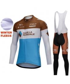 Ropa de Ciclismo Termica AG2R LA MONDIALE Con Tirantes