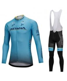 Ropa Ciclismo de Invierno Con Tirantes Astana 2019