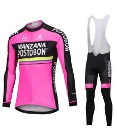 Ropa Ciclismo de Invierno Con Tirantes MANZANA POSTOBON 2021
