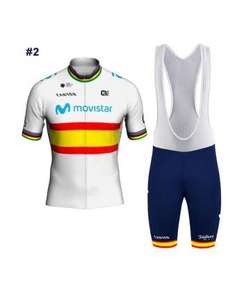 Ropa ciclismo de verano con tirantes MOVISTAR 2020