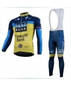 Ropa Ciclismo de Invierno Con Tirantes Saxo Bank