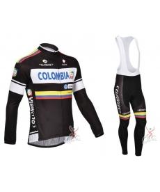 Ropa de Ciclismo Colombia de Invierno Con Tirantes