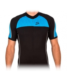 Maillot Ciclista Spiuk Race Men Jersey Negro y Azul