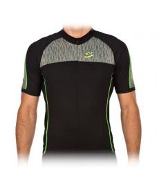 Maillot Ciclista Spiuk Race Men Jersey Negro y Verde