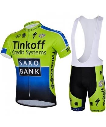 Equipación Ciclista de Verano Saxo Bank 2021