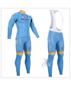 Ropa de Ciclismo Termica Astana Con Tirantes