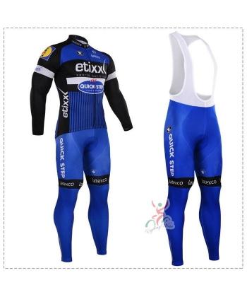 Ropa de Ciclismo Termica Quick Step Etixxk 2021 Con Tirante