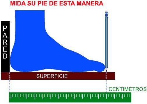 medida zapatillas